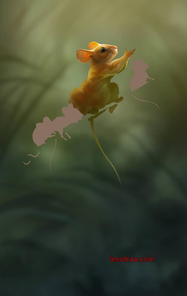 рисуем мышь в фотошопе поэтапно