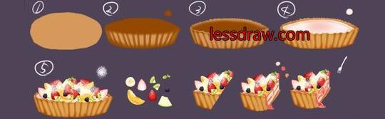 как нарисовать пирог