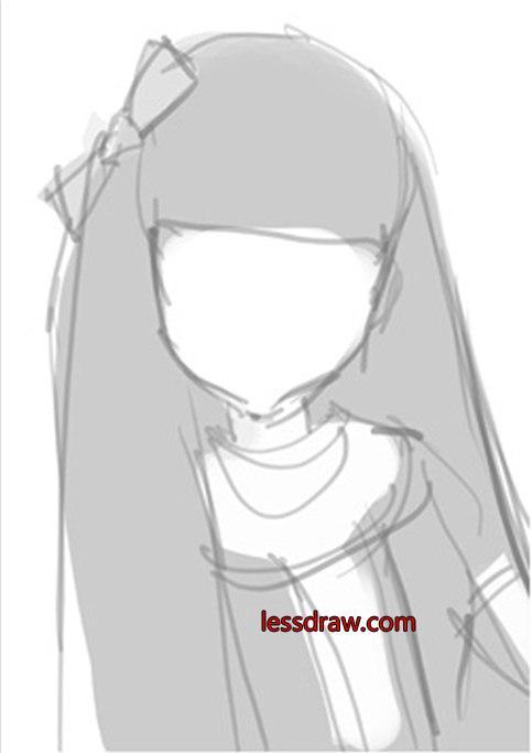 как нарисовать куклу поэтапно