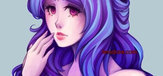 урок рисования аниме девушки в фотошопе