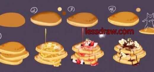 как нарисовать десерт