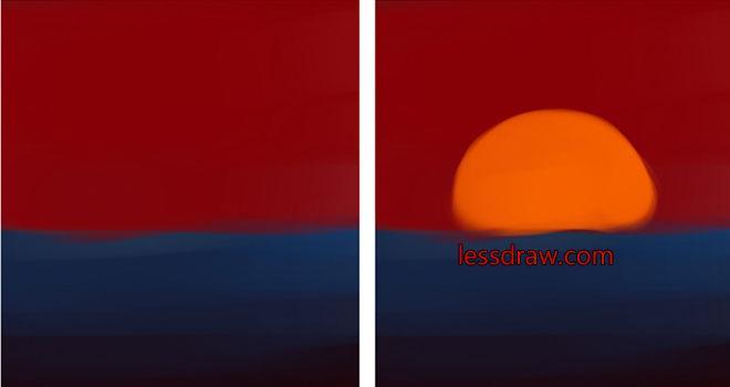 как нарисовать закат в фотошопе