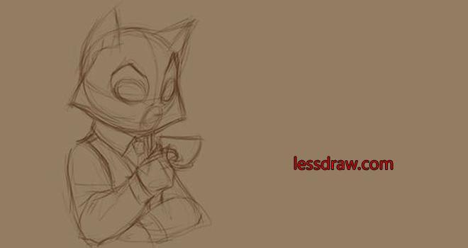 как нарисовать кота пошаговый урок