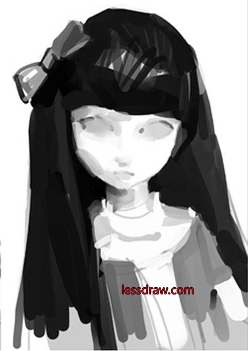 как нарисовать девочку куклу поэтапно