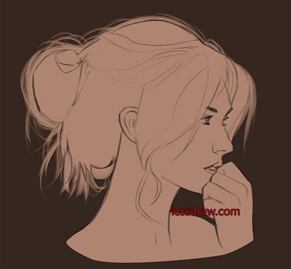 как нарисовать красивое лицо девушки