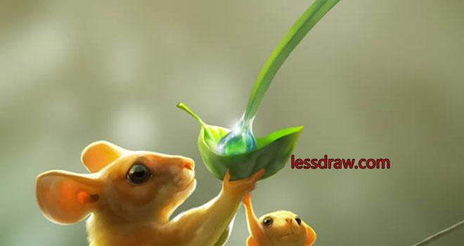 как рисовать мышь поэтапно