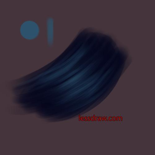 рисуем волосы шаг за шагом