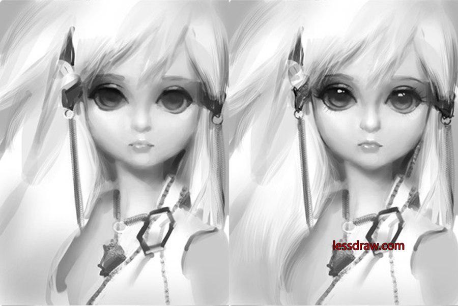 поэтапный урок рисования куклы