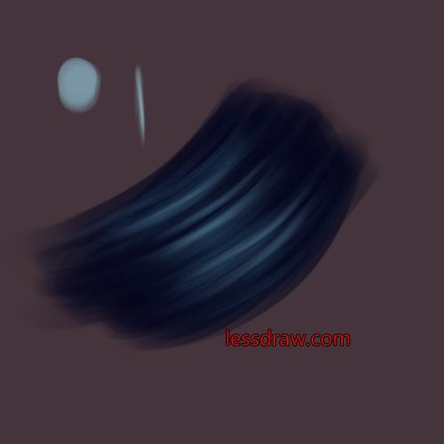 рисуем волосы в саи