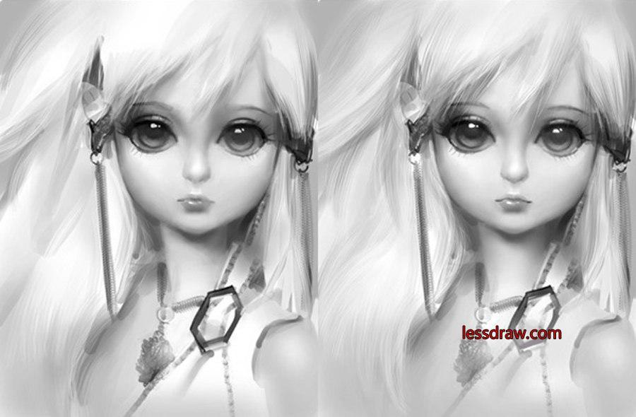 как нарисовать куклу в фотошопе
