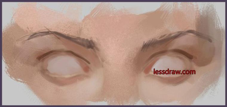 как нарисовать глаза пошагово