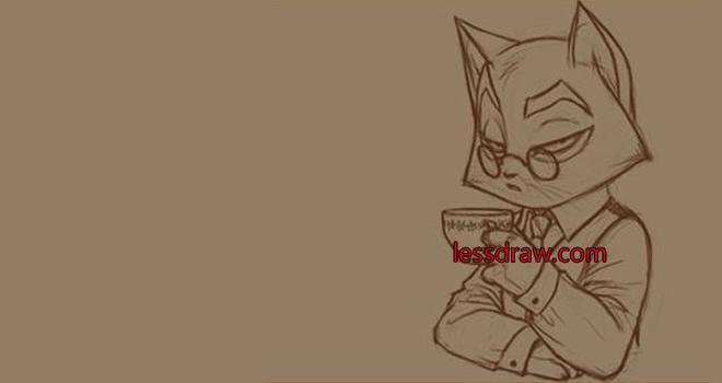 как поэтапно рисовать кота
