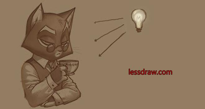 пошаговый урок рисования кот