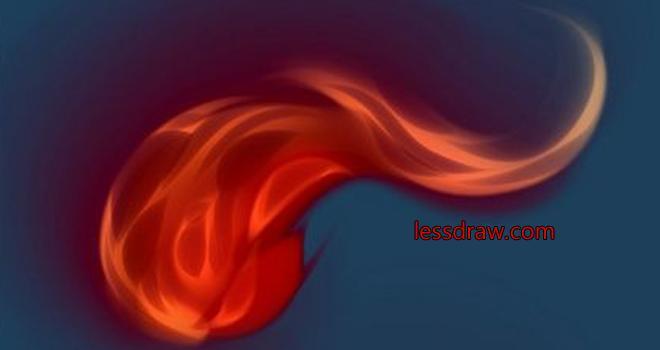 поэтапный урок рисуем огонь