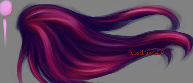 как правильно нарисовать волосы