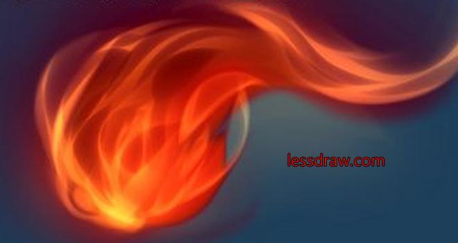 пошагово рисуем пламя в фотошопе