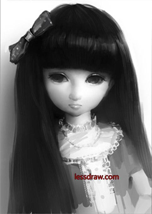 рисуем девочку куклу в фотошопе