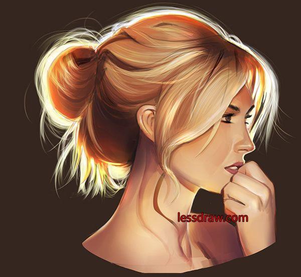 как поэтапно нарисовать лицо девушки
