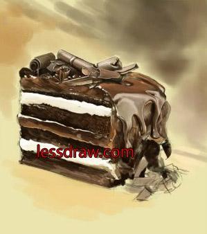 нарисованный торт на день рождения