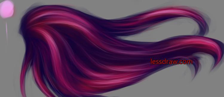 учимся рисовать волосы правильно