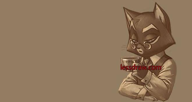 рисуем кота пошагово