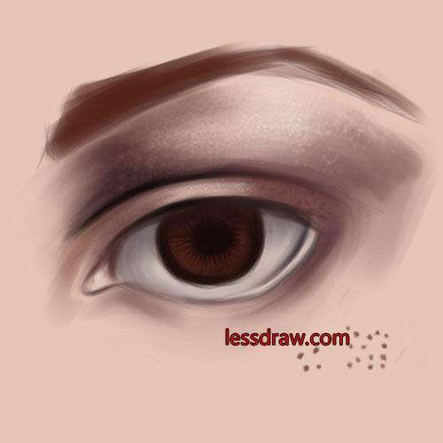 глаз фотошоп