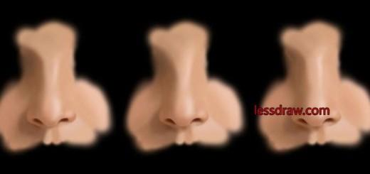 рисуем нос в фотошопе поэтапно