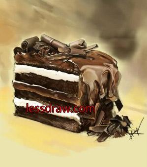 рисуем торт в фотошопе пошаговорисуем торт в фотошопе пошагово