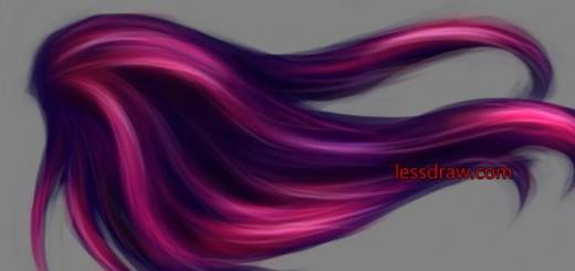 рисуем волосы в фотошопе