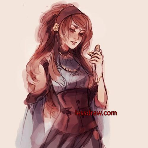 женский персонаж фотошоп