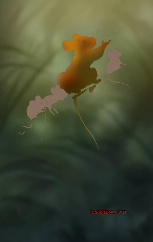 рисуем мышей в фотошопе