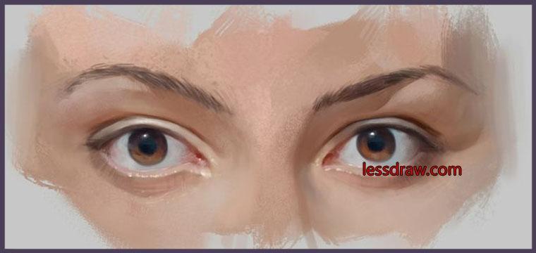 поэтапный урок рисования глаз в фотошопе