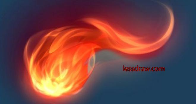 рисуем пламя