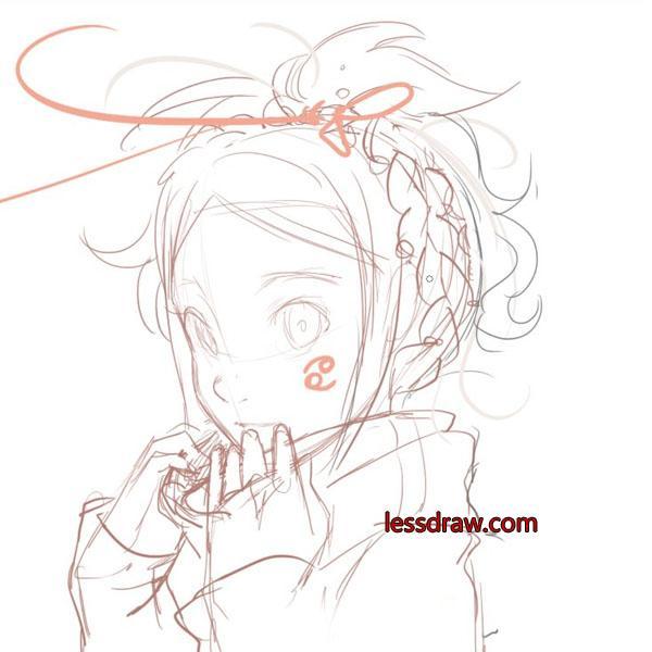 как нарисовать аниме персонажа