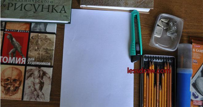 как нарисовать портрет парня карандашом