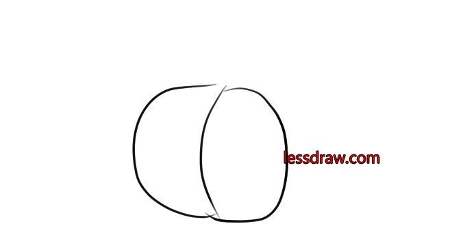 как нарисовать тыкву шаг 1