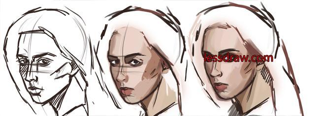 как рисовать лицо в фотошопе