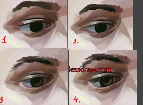 как нарисовать портрет мужчины