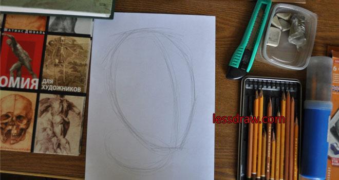 как нарисовать лицо парня карандашом