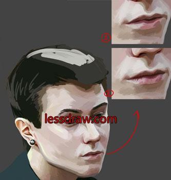 пошаговый урок рисования парня