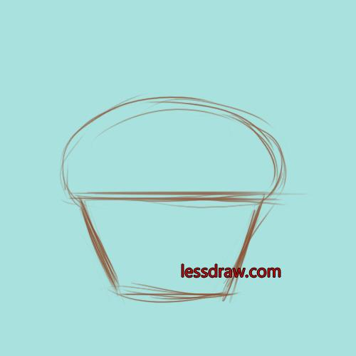 рисуем кекс