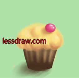 урок рисования кекса для детей