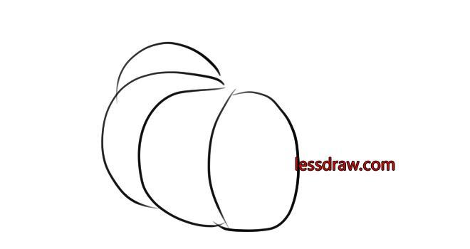 как нарисовать тыкву шаг 2