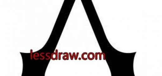 как нарисовать знак ассасина шаг 4
