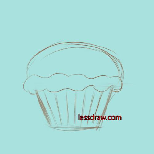как нарисовать кекс урок