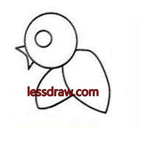 как нарисовать птицу поэтапно детям