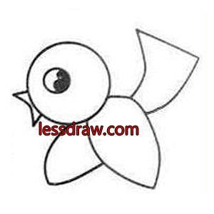 рисуем птичку с ребенком пошагово