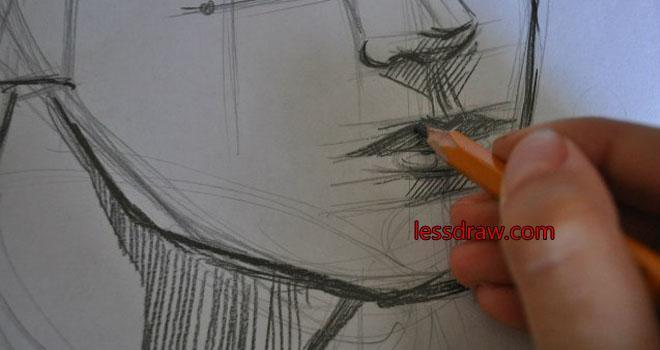 нарисовать лицо мужчины карандашом поэтапно