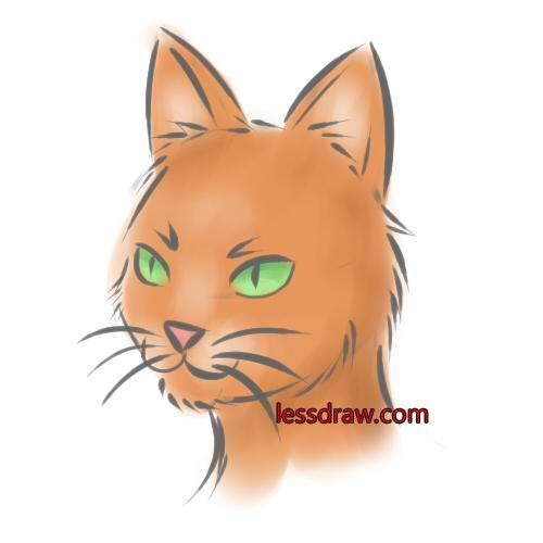 Как нарисовать кошку рисуем кошку