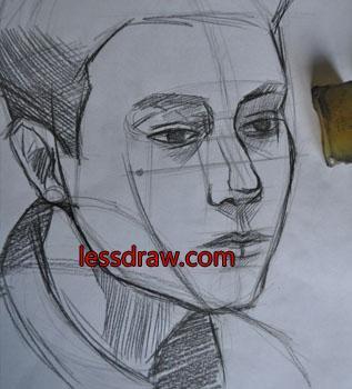 как нарисовать мужчину карандашом